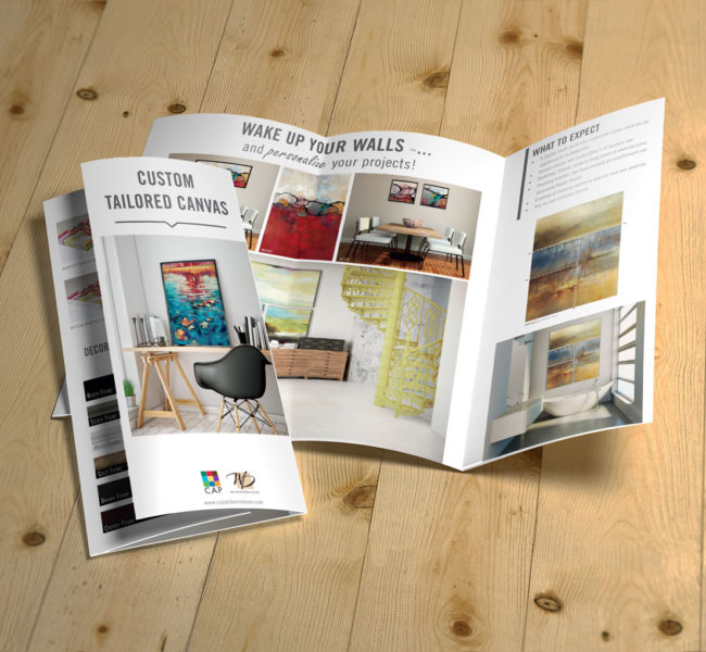 Gabellare | Graphic design portfolio & shop of Genesis Alvarez | 2016 Canvas capability brochure design for Cap and Winn Devon