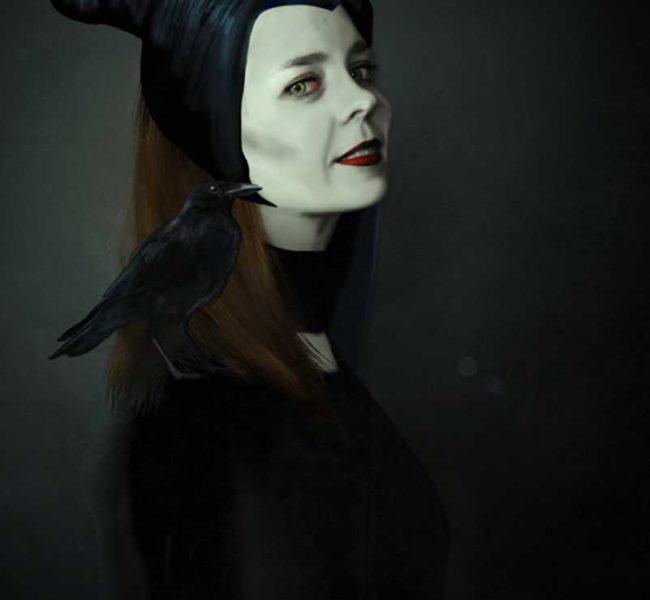 Gabellare | Graphic design portfolio & shop of Genesis Alvarez | Maleficent portrait illustration art. Digital Painting Art.