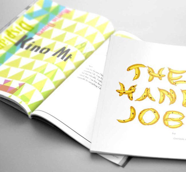 Gabellare | Graphic design portfolio & blog of Genesis Alvarez | The Hand Job, font book. Typography display booklet design.