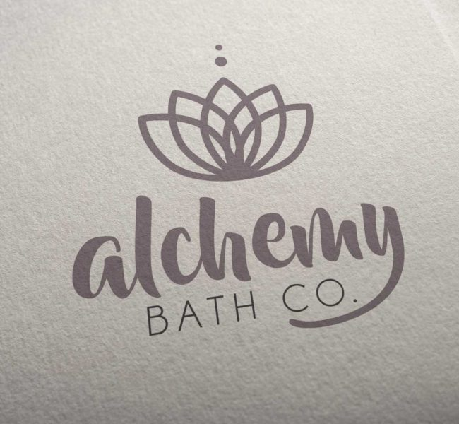 Gabellare | Graphic design portfolio & shop of Genesis Alvarez | Brand identity, branding concept and logo design for Alchemy Bath Co.
