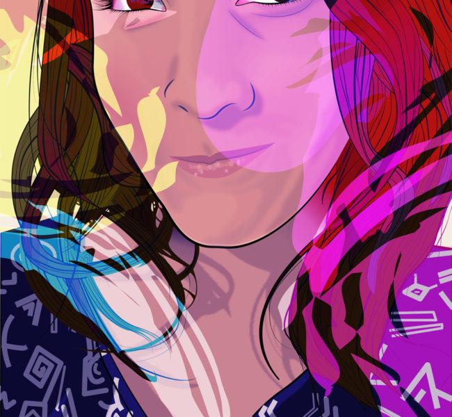 Gabellare | Graphic design portfolio & shop of Genesis Alvarez | Anonymous portrait illustration art. Vectorial illustration.