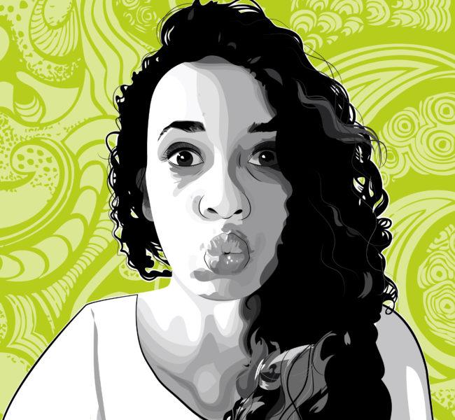 Gabellare | Graphic design portfolio & shop of Genesis Alvarez | Genesis Alvarez portrait illustration art. Vectorial illustration.