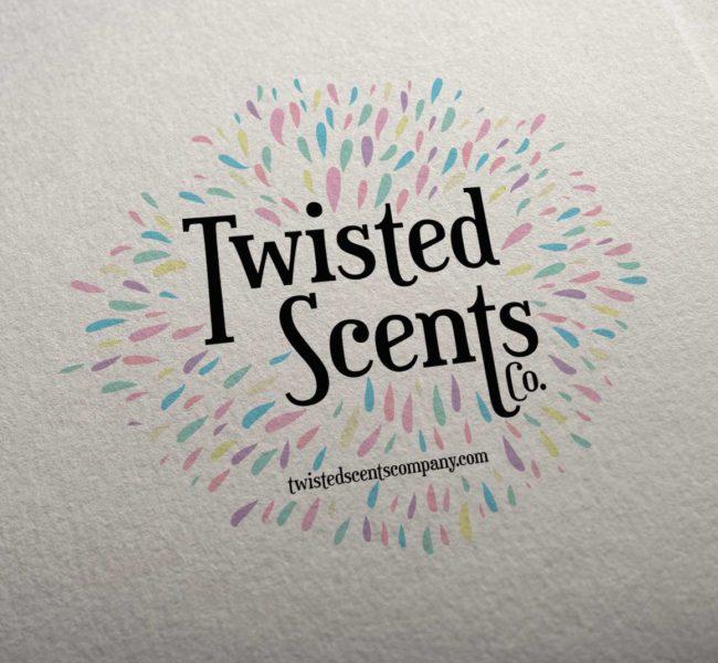 Gabellare | Graphic design portfolio & shop of Genesis Alvarez | Branding identity and logo design for Twisted Scents CO.