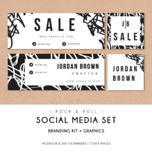 Rock & Roll | Social Media Branding Kit