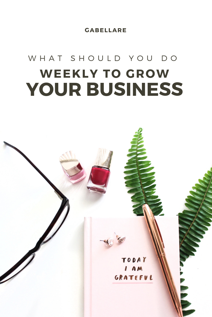 What should you do Weekly to Grow your Business
