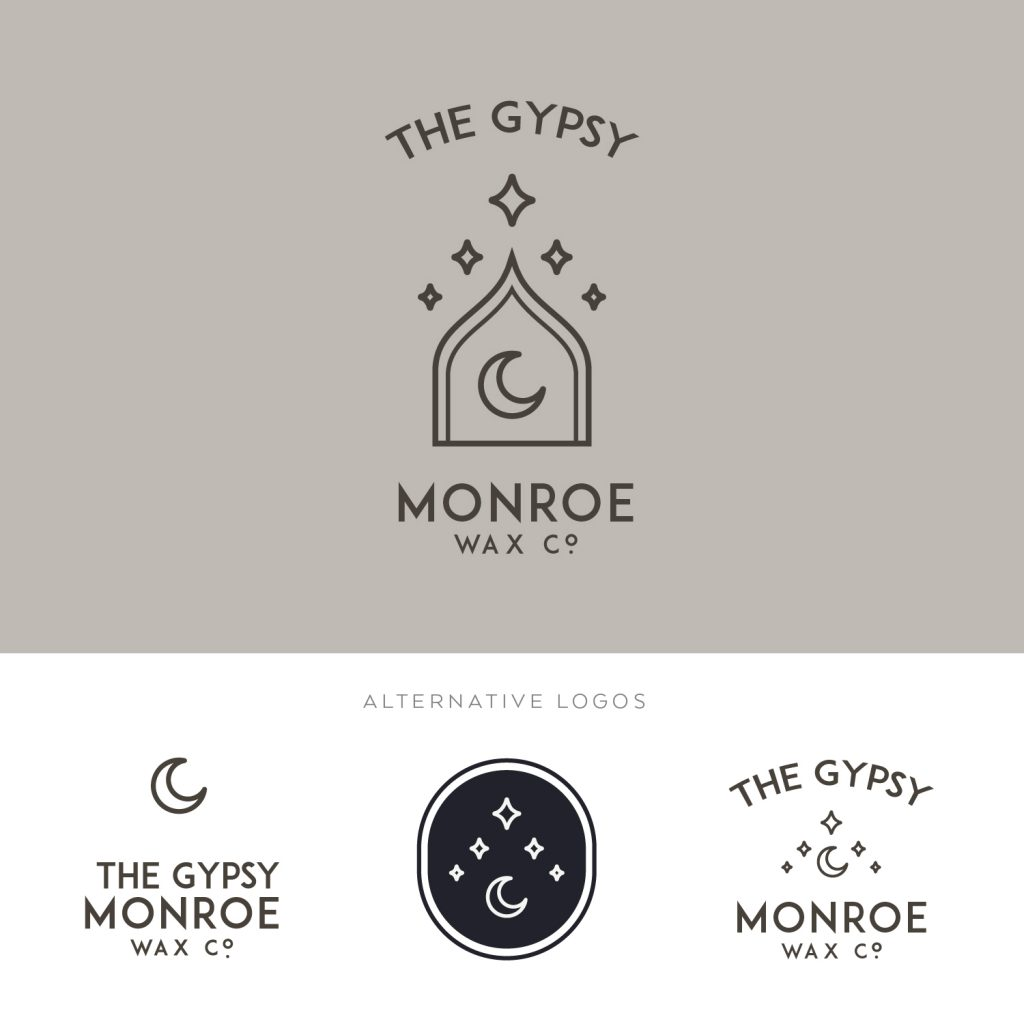 Moon Logo Design | Moon Premade Logo | Bohemian Logo Design | Logo Moon Branding Set | Boho Logo Design | Watermark | Window Logo |Astrology