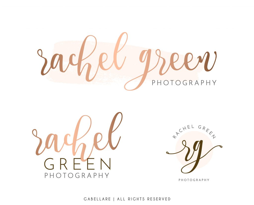 Rose Gold Logo Branding Kit | Mini branding kit | Logo design | Premade logo | Watermark logo | Photography Logo | Logo | Branding Package