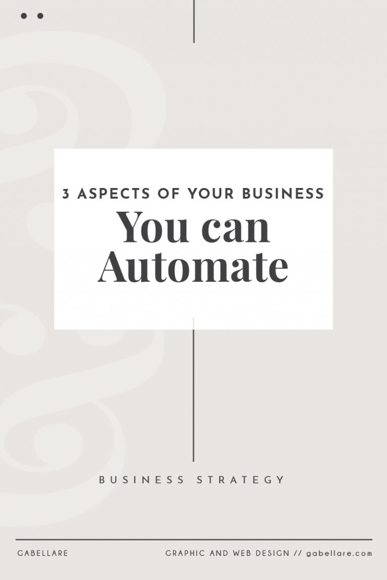 3 Aspects of your Business you can Automate