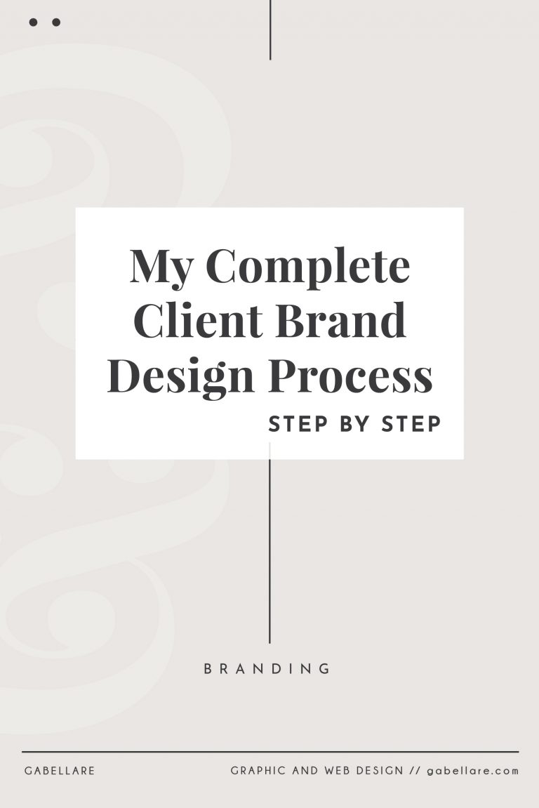 My Complete Client Brand Design Process, step by step